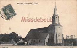28 - MONTIGNY LE CHARTIF - Eglise - 2 Scans -1916 - Other Municipalities