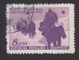 Albania, Scott #416, Used, Winter Advance, Issued 1947 - Albania