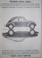 Volkswagen Maggiolino Porsche Pubblicit� cm 36x26 ca estratta da rivista anni 60