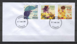 Cyprus 2014 Overprint On The Four Seasons Of The Year Stamps UNOFFICIAL FDC - Chypre (République)