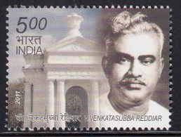 India MNH 2011.  V Venkatasubba Reddiar, Freedom Fighter, Liberation Of Pondicherry, French India - Inde
