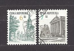 Czech Republic  Tschechische Republik  1994 Gest. Mi 52, 60 Sc 2893, 2894 Städte Slaný, Ostrava. C.1 - Czech Republic
