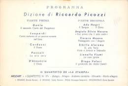 """03752 """"LA STAMPA - INVITO ALLA SERATA DI PROSA  E CONCERTO DEL 28 MARZO 193 - XIV E.F. - TORINO"""" CARTONCINO ORIGINALE. - Tickets - Vouchers"""