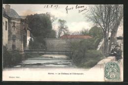 CPA Stains, Le Château Et L'Abreuvoir, Deux Garcons Sur Le Pont - Stains