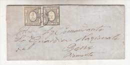 1 C. Stampe In Coppia Su Piego - 1861-78 Vittorio Emanuele II