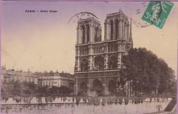 75  °°  Paris   :-   Notre-Dame De Paris  Vue  Depuis  Les  Bouquinistes  Rive  Gauche   *   écrite  1914 - Notre Dame De Paris