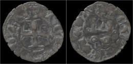 Crusader Archaia John Of Gravina Billon Denier No Date - Monnaies Antiques
