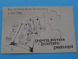 La Carte Postale  Illustrée Charleroi / 4 MAI 1980 2ème Bourse Int. ( N° 248 ) - ( Zie Foto Voor Details ) !! - Bourses & Salons De Collections