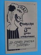 La Carte Postale  Illustrée Charleroi / 3 MAI 1981 3ème Bourse Int. ( N° 424 ) - ( Zie Foto Voor Details ) !! - Bourses & Salons De Collections