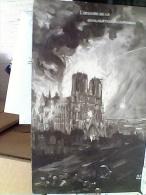 FRANCE PARIS - Guerre 14-18 Illustrée , L'oeuvre De La Civilisation Allemande, Cathédrale En Feu, S1920   EW1818 - Notre Dame De Paris