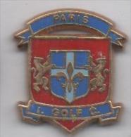 Beau Pin´s En Zamac , Golf , I. Golf C. Paris , Blason - Golf
