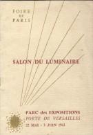 Salon Du Luminaire/Foire De Paris/Guide De L´Exposition/Porte De Versailles/1963  PGC85 - Electricity & Gas