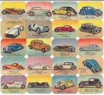 20 Tr�s belles images plastifi�es en reliefs sur les voitures anciennes