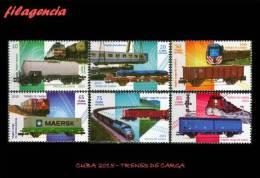 AMERICA. CUBA MINT. 2015 TRENES DE CARGA - Cuba