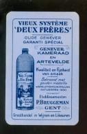 Speelkaart ( 696 ) Dos D´ Une Carte à Jouer - Wijn Vin Likeur Liqueur Distillerie Stokerij -  Bruggeman  Gand Gent - Autres Collections