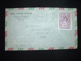 LETTRE PAR AVION POUR LA FRANCE TP PEDRO ALVARES CABRAL 3,50 S OBL.MEC.11 IV 1970 LISBOA 2 + JORGE DRAPER MINEIRO - 1910-... République