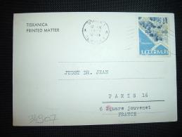 CARTE (TISKANICA) POUR LA FRANCE TP CRIKVENICA 30 OBL.MEC.12 X 1963 OSIJEK - 1945-1992 République Fédérative Populaire De Yougoslavie