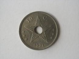 CONGO BELGE - Albert 1er - 10 Cents De 1921 @ étoile Trouée - Congo (Belge) & Ruanda-Urundi