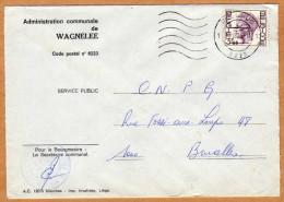 Enveloppe Brief Cover Administration Communale De Wagnelée - Covers & Documents