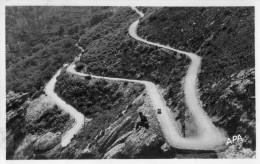 CPA  GLACEE  12  --  DPT 34  --  LAMALOU - LES - BAINS  --  LES  LACETS  SUR  LA  ROUTE  DE LA  FORET........ - Lamalou Les Bains