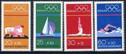 GERMANY 1972 Olympic Games, Munich  Set Of 4  MNH / **.  Michel 719-22 - [7] Federal Republic