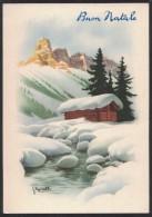 AC54     Bonelli - Buon Natale - Paesaggio Invernale - Illustratori & Fotografie