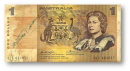 AUSTRALIA - 1 Dollar - Nd ( 1976 ) - P 42.b1 - Sign. H. M. Knight And F. H. Wheeler - Elizabeth II - Reserve Bank - 1974-94 Australia Reserve Bank (papier)