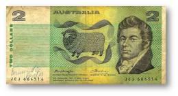 AUSTRALIA - 2 Dollars - Nd ( 1976 ) - P 43.b2 - Sign. H. M. Knight And F. H. Wheeler - Sir Joseph Banks - Reserve Bank - 1974-94 Australia Reserve Bank (paper Notes)