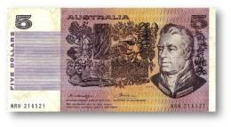 AUSTRALIA - 5 Dollars - Nd ( 1976 ) - P 44.b1 - Sign. H. M. Knight And F. H. Wheeler - Sir Joseph Banks - Reserve Bank - 1974-94 Australia Reserve Bank (papier)