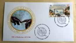 VATICANO 2015 - ANNIVERSARY UIT TELECOMMUNICATIONS ,  (MICHELANGELO)  FDC - FDC