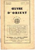 Esotérisme  OEUVRE D´ORIENT  JUIN 1955 - Geheimleer