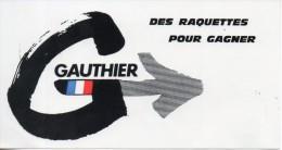Gauthier. Des Raquettes Pour Gagner. 152x80mm - Autocollants