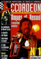 MAGAZINE ACCORDEON - ROQUES ET RENAUD - CHANTEUR RENAUD AVEC ACCORDEON SUR SCENE - CART'COM (1994) - Muziek En Musicus