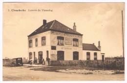 Clemskerke, Laiterie Du Vosseslag, Animée, Automobile, Circulée En 1933 - 2 Scans - De Haan