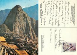 Machu Picchu, Peru postcard posted 1986 stamp