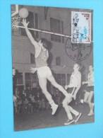BASKETBAL Speler In Aktie ( Afstempeling Post + Zegel / Timbre - Anno 1977 - Zie Foto Details ) !! - Poste & Facteurs