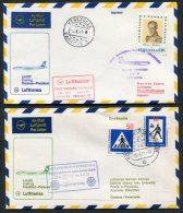 1971 Lufthansa Venezuela Germany Caracas / Frankfurt First Flight Covers X 2 - Venezuela