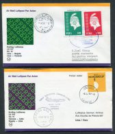 1978 Lufthansa Peru Venezuela Lima / Caracas  First Flight Covers X 2 - Peru