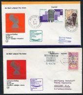 1978 Lufthansa Ivory Coast Germany Abidjan / Frankfurt First Flight Covers X 2 - Ivory Coast (1960-...)