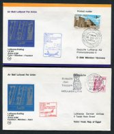 1978 Lufthansa Egypt Germany Cairo /Munich First Flight Covers X 2 - Airmail