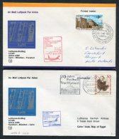 1978 Lufthansa Egypt Germany Cairo / Frankfurt First Flight Covers X 2 - Airmail