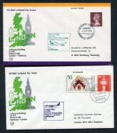 1980 Lufthansa GB Germany London Heathrow / Hamburg First Flight Covers X 2 - 1952-.... (Elizabeth II)