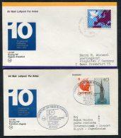 1977 Lufthansa Germany Zagreb / Frankfurt First Flight Covers X 2 - Airmail