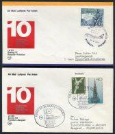1977 Lufthansa Germany Belgrade / Frankfurt First Flight Covers X 2 - Airmail