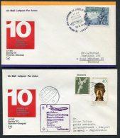 1977 Lufthansa Germany Belgrade / Munchen First Flight Covers X 2 - Airmail
