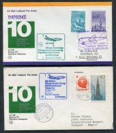 1977 Lufthansa Hungary Germany Budapest / Munich First Flight Covers X 2