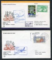 1979 Lufthansa Tunesia Germany Tunis / Munich First Flight Covers X 2 - Tunisia