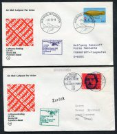 1978 Lufthansa Switzerland Germany Basel / Frankfurt First Flight Covers X 2 - Switzerland