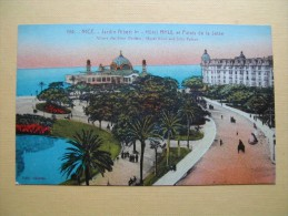NICE. Le Jardin Albert 1er Et L'Hôtel Ruhl. - Parcs Et Jardins