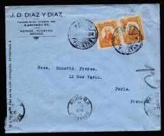 A3176) Mexico Cover From Merida 10.12.1920 (?) To Paris / France - Mexiko